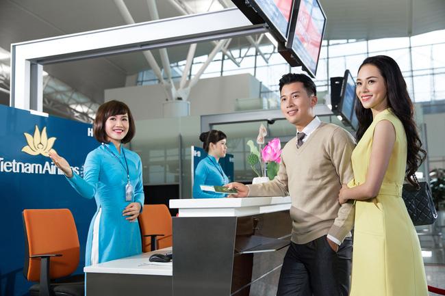 Vietnam Airlines bố trí quầy thủ tục check-in riêng, gần với khu vực lên tàu bay và kiểm soát an ninh