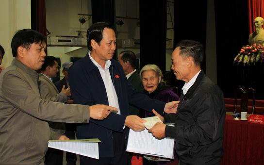 Bộ trưởng Đào Ngọc Dung: Giải quyết dứt điểm các ý kiến của các cử tri về chính sách người có công